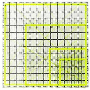 UOOU 4 Pack Quilting Ruler Square Rulers Fabric Cutting Acrylic Quilters Clear $36.38