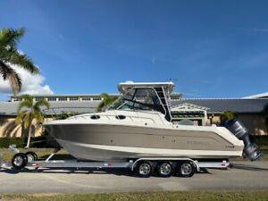 2009 Robalo R305 Walk Around Fishing Boat Garmin Outriggers 300 Yamahas Serviced