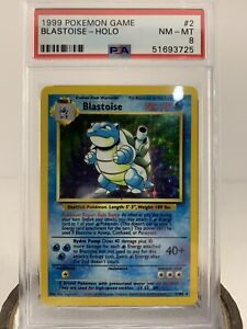 1999 Pokemon Game # 2 102 Blastoise Holo Base Set Original Pokemon Cards PSA 8 $550.00