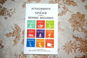 Rare Attachments Manual for Singer Sewing Machines 15 66 99 201 221 etc. $16.85
