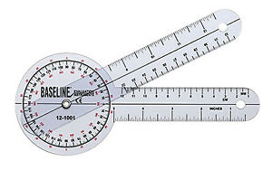 Baseline Plastic Goniometer 360 Degree Head 8 inch Arms 25 Pack $232.50