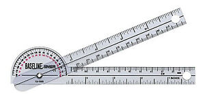 Baseline Plastic Goniometer Pocket Style 180 Degree Head 6 inch Arms 25 Pack $117.50