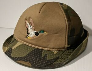 Winchester Hunting Bucket Hat Mallard Duck Camouflage Ear Flap XL Cotton