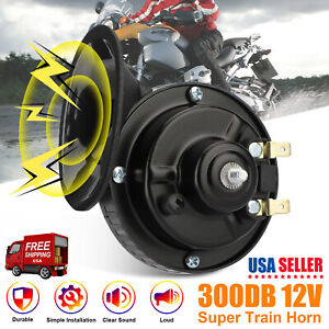 12V 300DB Super Loud Train Horn Waterproof for Motorcycles Cars Truck SUV Boat $9.48
