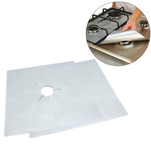 4pcs Universal Heavy Duty Gas Hob Protector Sheets Non stick Oven liner For Home $6.98