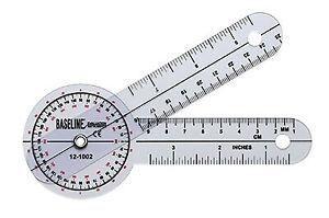 Hires 360 Degree Clear Plastic Goniometer 12quot; Length Pack of 25 $580.00