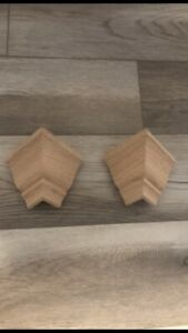 "Crown Molding Low Profile Outside Corners For 3 5 8"" Transition Solid Oak 2 PACK $19.98"