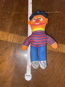 "Vintage Sesame Street Ernie Small Plush Dolls 4"" Tall"