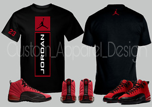 New Custom Tee T Shirt to Match Air Jordan Retro 12 Reverse Flu Game $25.99