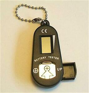 HEARING AID amp; BUTTON CELL DIGITAL BATTERY TESTER STOReS 2 BATTERIES FREE SHIP $5.49