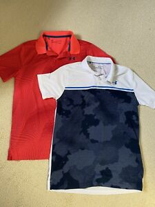 Two Boys Under Armour Golf Shirts Sz Youth XLG $15.00