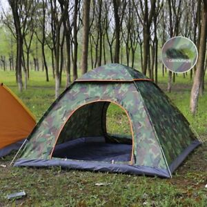 3 4 Person Tent Camping Pop Up Waterproof Automatic Instant Outdoor Family Sport