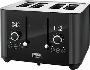 Bella Pro Series 4 Slice Digital Touchscreen Toaster Black Stainless Steel $49.99