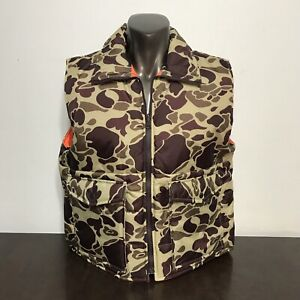vintage WINCHESTER hunting vest CAMOUFLAGE frogskin Medium reversible orange