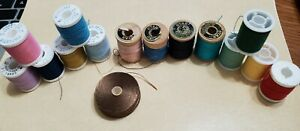 Star Vintage sewing thread spools wood plastic asst colors Polyester USA $14.70