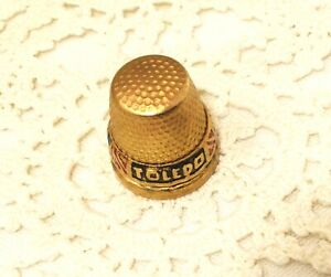 """TOLEDO Thimble From """"Jack Be Nimble"""" Metal Sewing Holder.  #486 $34.99"""