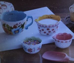 The Pioneer Woman Breezy Blossom Stackable 4 Piece Measuring Bowl Set of 4 New