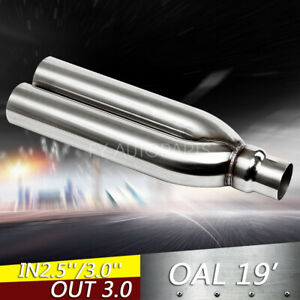 2.5 3 Inlet outlet Blastpipes blast pipe exhaust STAINLESS UNIVERSAL MUFFLER $69.99