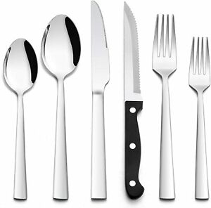 72 PCS Stainless Steel Silverware Flatware Set Kitchen Cutlery Service for 12 $52.59