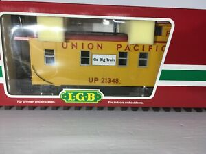 LGB # 41790 UNION PACIFIC CABOOSE YELLOW AND RED