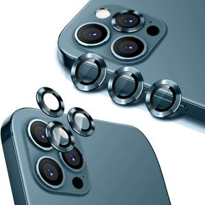 For iPhone 13 Pro Max 12 Pro Tempered Glass Aluminum Alloy Camera Lens Protector $8.88