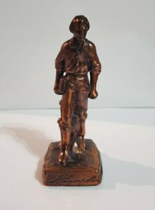 Vintage Gettysburg Abraham Abe Lincoln Metal Figurine Statue 6quot; Bronze colored $20.00