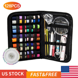 128Pcs DIY Multi function Sewing Box Set Portable Travel Emergency Sewing Kit $9.99