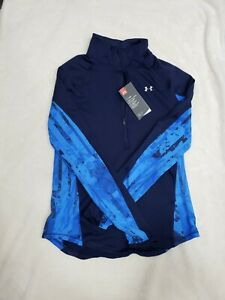 Womens Fitted Small Under Armor Cold Gear 1 2 Zip Pullover NWT $25.00