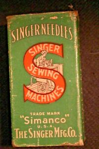 Original Box 100 Singer Sewing Needles 16 x 23 21...OLD NEW STOCK $29.00