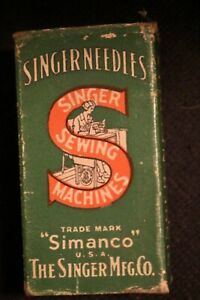 Original Box 100 Singer Sewing Needles 16 x 23 22...OLD NEW STOCK $29.00