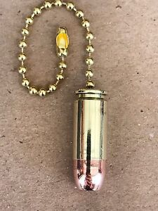 Authentic .40 SW Caliber Bullet Ceiling Fan Light Lamp Pull Chain NRA $4.99