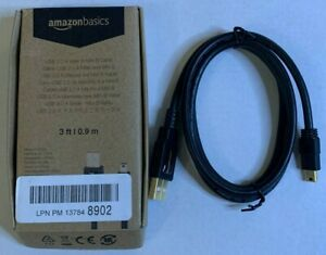 *NEW* AmazonBasics USB 2.0 Charger Cable A Male to Mini B Cord 3 Feet $9.99
