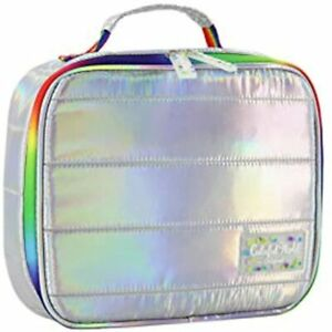 Kids Lunch Box Reusable Tote Holographic Insulated Bags For Women Girls And