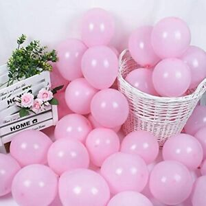 100 Pack Inch Thicken Light Pink BalloonsLarge Macaron Latex Helium For Wedding
