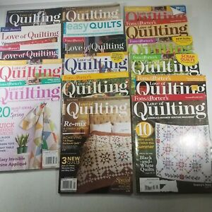 Fons and Porter Love of Quilting Magazine and More Lot of 17 from 2009 2015 $34.98