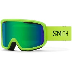 Smith Frontier Snow Goggles Limelight Frame Green Sol X Mirror Lens New 2021