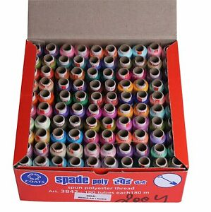 Polyester Thread 100 Sewing Spools 25 Mix Color 300metre 328 yards each Spool $27.99