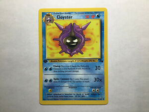 Shellder 54 62 and Cloyster 32 62 1st Edition Pokemon Cards Fossil Near Mint $4.95
