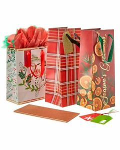 The Gift Wrap Company Assorted Gift Bag Set $14.99