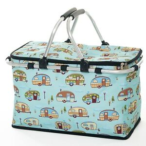 Collapsible Insulated Picnic Basket – Insulated Bag – Camper