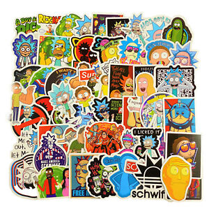 120pcs Rick and Morty themed vinyl Stickers Cute Character Stickers USA SHIPPING