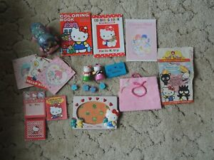 HUGE lot Vintage Sanrio Hello Kitty misc. assortment: toys notepads more