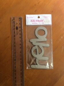 A2Z Scraplets Embellishments Hello for craft scrapbooking