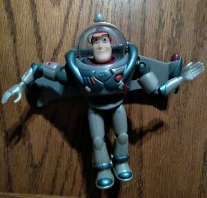 Disney Pixar Toy Story Silver Blue 6 in. BUZZ LIGHTYEAR Action Figure RARE $14.99