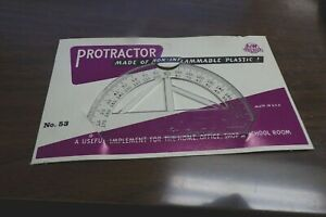 Vintage Aamp;W Tru Built Protractor Triangles Stencil Template 1960#x27;s New NOS $10.00