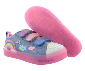 Skechers S Lights Shuffle Brights Rainbow Glow Girls Shoes $29.90
