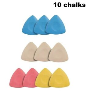 Tailors Chalk Sewing Patterns Fabric Triangle Pencil Markers Color Marking Set $5.99