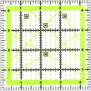 Quilting Rulers 4.5quot;x4.5quot; Square Quilting Rulers Fabric Cutting Ruler Acrylic $12.81