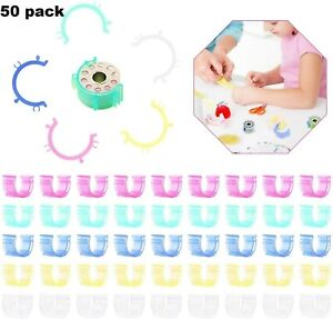 100 Bobbin Clips Sewing Thread Holder Tool Wrap Embroidery Spools Quilting $10.99