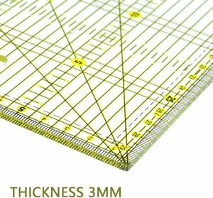 Quilting Rulers 6quot;x 2quot; Laser Cut Acrylic Quilters#x27; Ruler Adhesive Non Slip Grips $15.07